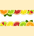 banner with bright citrus fruits vector image vector image