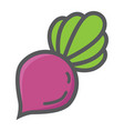 beet colorful line icon vegetable and diet vector image