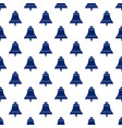blue bell seamless pattern vector image vector image
