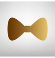 Bow Tie icon Flat style icon vector image vector image