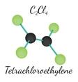 C2Cl4 Tetrachloroethylene molecule vector image vector image