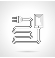 Charger cord flat line icon vector image vector image