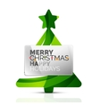 Christmas tree with message board vector image