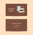 coffee shop or company business card vector image