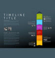 colorful vertical infographic timeline report vector image vector image