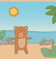 cute animal enjoying summer vacations vector image vector image