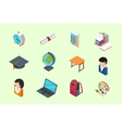Education isometric icons vector image vector image