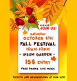 fall festival of autumn harvest banner template vector image vector image