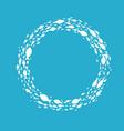 fish symbol ball vector image vector image