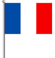 flag of france eps 10 vector image vector image