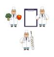 flat doctor nurse surgeon characters set vector image vector image