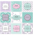 frames cards and patterns vintage templates vector image