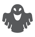 ghost glyph icon fear and halloween poltergeist vector image vector image