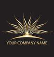 Gold lotus logo vector image vector image