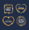happy holidays and santa cookies merry lettering vector image vector image