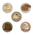 heads of eagles vector image vector image