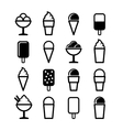 Ice Cream Icons Set on White Background vector image vector image