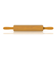 Image of a traditional rolling pin with reflection vector image vector image