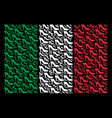 italy flag collage of lady shoe items vector image