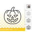 jack olantern simple black line icon vector image vector image