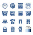 jeans icon set vector image