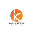 k letter abstract business logo symbol vector image