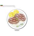 kebapche or meat patties popular dish of bulgaria vector image vector image