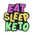 keto print healthy food low carb banner vector image vector image