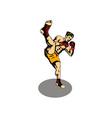 Kickboxer Kicking vector image vector image