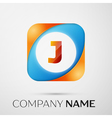 Letter J logo symbol in the colorful square on vector image vector image