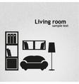 Living room background llustration vector image vector image