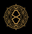 mandala number eight spiritual icon vector image vector image