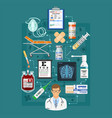 medical services infographics vector image vector image