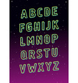 Neon tube glowing font alphabet vector image vector image