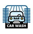 passenger car at automatic car wash station vector image