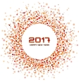 Red Circle New Year 2017 framewhite Background vector image
