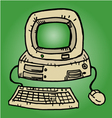 Retro computer vector image