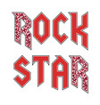 rock star glitter modern fashion slogan vector image