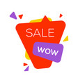 sale banner design template flat speech bubble vector image