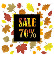 sales banner with autumn leaves leafs in season vector image