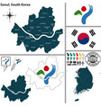 seoul special metropolitan city south korea vector image vector image
