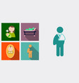 set of medecine icons patient baby mother with vector image vector image