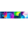 set square liquid color abstract geometric vector image