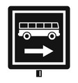 sign bus stop icon simple style vector image
