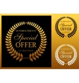 Special offer label or emblem vector image