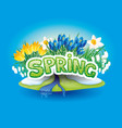 spring and flowers vector image vector image