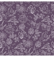 Spring thin line seamless pattern with vector image vector image