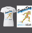 t-shirt design with sport motif vector image vector image