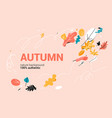 trendy banner with color leaves vector image vector image