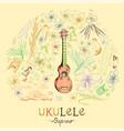 ukulele soprano vector image